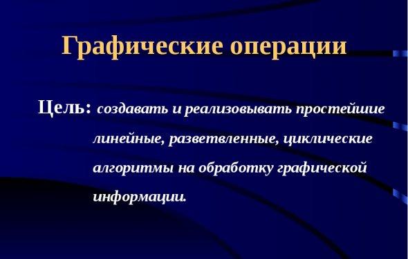 слайда 1 Графические операции